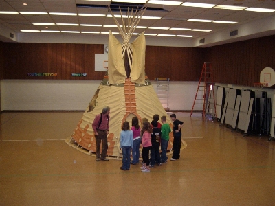 Indoor Tipi Raising